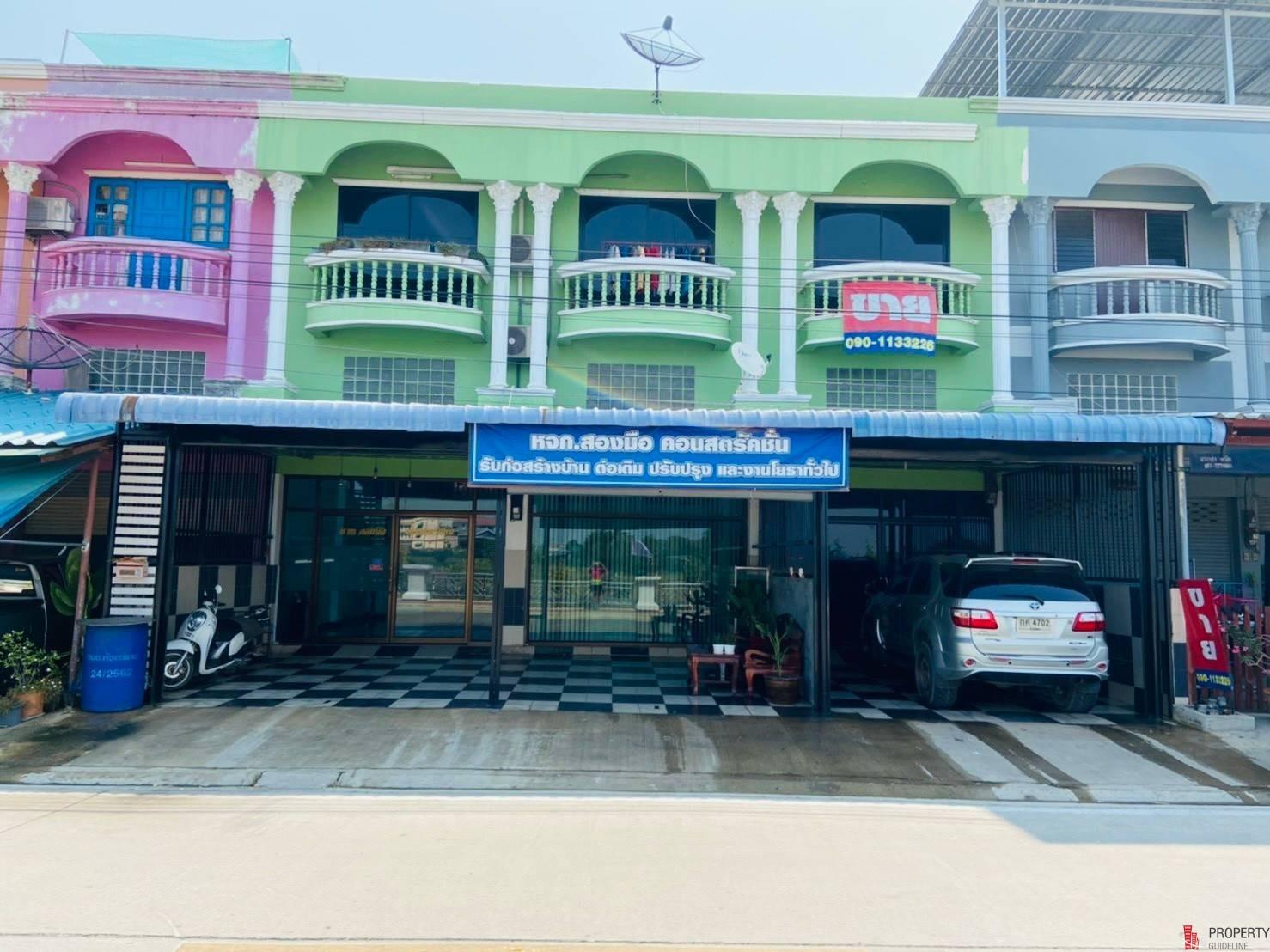 ขายอาคารพานิชย์ 3 คูหา หัวตะพาน ติดถนน